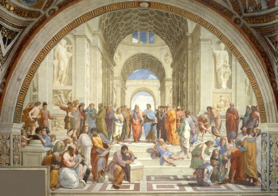 Raphael: The School of Athens. Fine Art Print/Poster. Sizes: A4/A3/A2/A1 (00244)